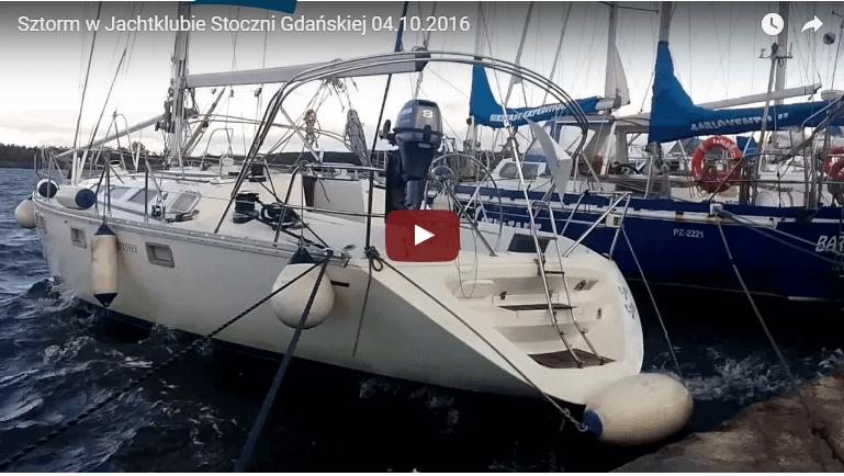 Sztorm w Jachtklubie Stoczni Gdańskiej 04.10.2016