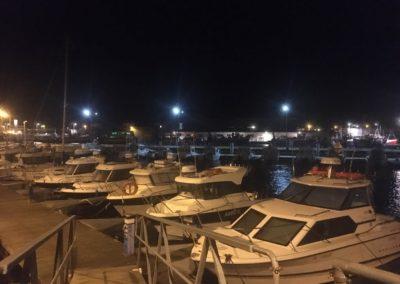 Andrzejki na zatoce-Hel nocą