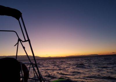 Andrzejki na zatoce-zachód Słońca