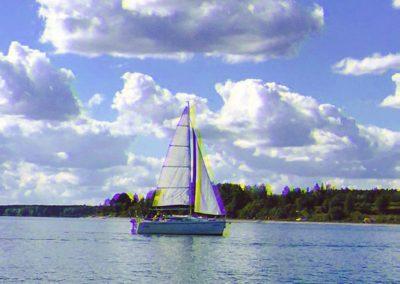 Kurs żeglarski zalew Sulejowski żeglowanie przy słabym wietrze