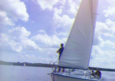 Kurs żeglarski zalew Sulejowski przygotowanie dopodejścia doboi