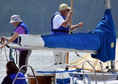 Kurs żeglarski zalew Sulejowski - przygotwoanie do wyjścia