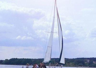 Kurs żeglarski zalew Sulejowski rozdział prac dla załogi