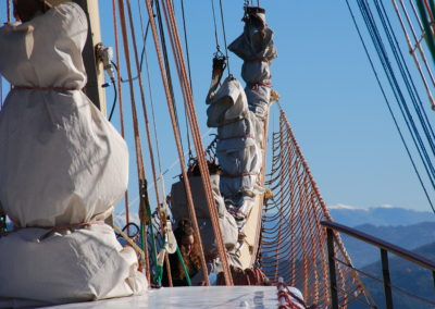 Rejs na Pogorii-sztaksle na portowo