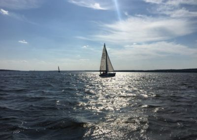 Szkoła żeglarstwa Zalew Sulejowski - manewry doskonalące