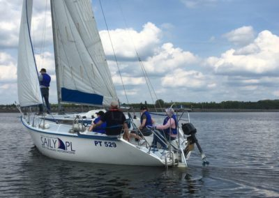 Szkoła żeglarstwa Zalew Sulejowski praca na żaglach