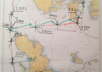 Szkoła żeglarstwa-warsztaty nawigacyjne-praca z mapą