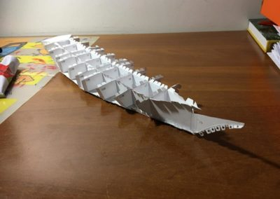Szkoła żeglarstwa-model Pogorii-klejenie szkieletu3