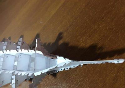 Szkoła żeglarstwa-model Pogorii-klejenie szkieletu4