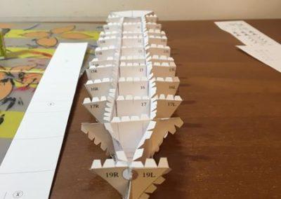 Szkoła żeglarstwa-model Pogorii-klejenie szkieletu6