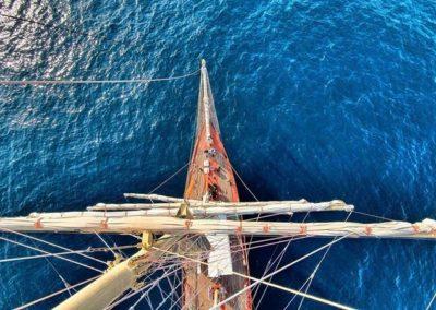Szkoła żeglarstwa-rejs na Pogorii-na rejach